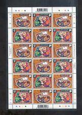 Singapore  2004 year of Monkey sheetlet of 9 sets