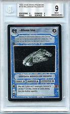 Star Wars Millennium Falcon BGS Graded 9.0 Mint Card Decipher CCG Premiere