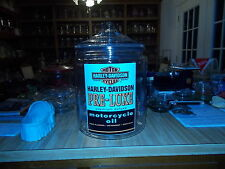 """13 1/2""""  2 GALLON HARLEY DAVIDSON OIL CAN STYLE JAR WITH  N.O.S. STICKER"""