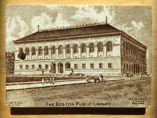 Antique Wedgwood Rare Advertisement Calendar Tile Boston Public Library 1894