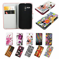 Leather Card ID Wallet Phone Stand Cover Case Flip For Motorola Moto G Moto E