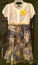 MyMichelle NEW~Girls~size 14~Black and Yellow with White Sweater/Cover Up!
