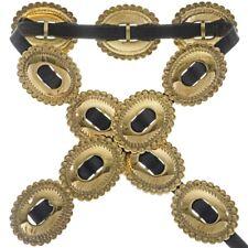 Beautiful Handmade Apache Gold Concho Belt by Navajo Artist Joey Mc Cray