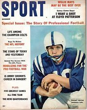 1960 (Dec) Sport Magazine Football,Johnny Unitas,Baltimore Colts,Willie Mays~VG