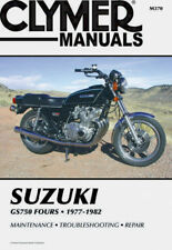 CLYMER MOTORBIKE WORKSHOP SERVICE REPAIR MANUAL BOOK SUZUKI GS750 FOURS 77-82