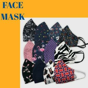 Face Mask Triple Layer 3D Non Surgical UK Virus Protection Washable Reusable