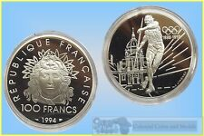 France - 100 Franc Silver Proof Coin 1994 Olympic Issue for the Athens Games