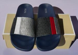 MK MICHAEL KORS Ayla Slide Sandal  - Black Multi Logo - Size 8M - New in Box