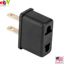European Euro EU to US USA Plug Travel Charger Wall Adapter Outlet Converter NEW