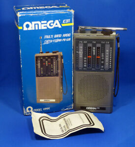 VINTAGE OMEGA ICON MULTI BAND RADIO MODEL 4999 CB/TVI-FM/AIR-PB-WB BOXED