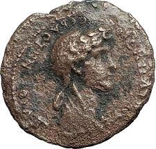 NERO & AGRIPPINA II Jr. 54AD Magnesia ad Sipylum Lydia RARE Roman Coin i59789
