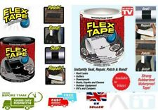 "Flex Tape Strong Water Proof 4""x5' Rubberised Thick Seal Stop Leaks Tape White"