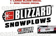 BLIZZARD Snow Plow Decal 3 Pc Kit -1 large Front Decal & 1 Frame Decal+ 1AM flag