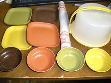 Tupperware tuppertoys play food dishes bowls, plates, cake taker, pie pad