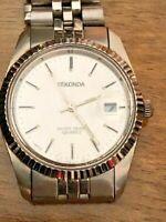 Vintage Sekonda Classic Date Aperture WR30M Men Quartz Bracelet Watch