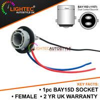 BAY15D 1157 P21/5W WIRED LIGHT BULB SOCKET CONNECTOR FOR CARS VANS TRUCKS LED