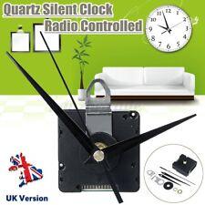 DIY Kit Black UK Atomic Radio Controlled Silent Clock MSF Time Movement 3 Hands