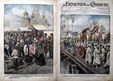 Domenica del corriere 1919-22 FUNERALI DELL'IMPERATORE DI COREA -CRISI IN RUSSIA
