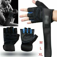 NEW Half Finger Gym Gloves with Wrist Support & Anti-slip Full Protection