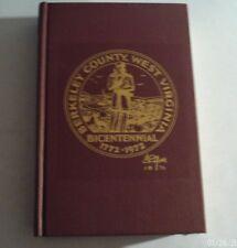 1972 BERKELEY CTY, U.S.A. (VA & WV Cty History) by William Thomas Doherty (H/C)