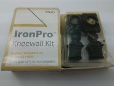 "Iron Pro 1/2"" IronPro Kneewall Kit - Satin Black (SB) 374665 *2 Packs*"
