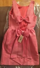 Erin Fetherston Pink Bow Back Bridesmaid Prom Evening Dress Size 6 S  NWT