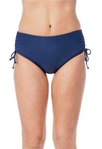 24th & OceanWomen's Solid Adjustable sides High Waist Bikini bottom size L