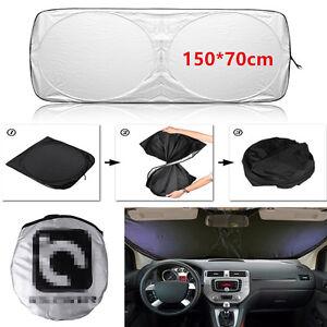 1x Windshield Cover UV Sun Visor Sunshade Car Jumbo Front Rear Window Protection