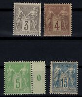 PP135297/ FRANCE STAMPS – YEARS 1877 - 1898 MINT MH CLASSIC LOT – CV 125 $