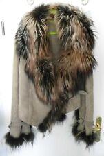 Leatherlounge Imperio Winter - Luxus - Lederjacke mit Pelzkragen braun Gr. M - L