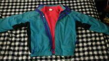 Vintage Columbia Mens M/L 2pc Radial Sleeve Jacket/Shell Neon Teal/Purple/Pink