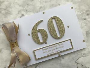 Glitter Personalised 60th Birthday Scrapbook Memory Photo Album Gift
