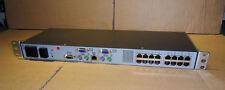HP 16 Port IP CAT5 Console KVM Switch RJ45 - EO1013 - PN 396631-001 - 0X2X16 NEW