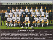 PORT VALE FOOTBALL TEAM PHOTO>2001-02 SEASON