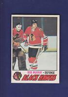 Bob Murray 1977-78 O-PEE-CHEE OPC Hockey #12 (EXMT) Chicago Blackhawks