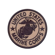 US Marine Marines Corps USMC Military Coyote Brown Tan Hook Loop Round Patch