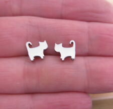 Cat Side View - Stud Earrings - Hypoallergenic 316L Surgical Steel - GIFT BOXED