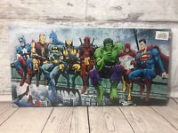 New York Superhero Lunch Break Canvas Picture NY Classic Kids Xmas Gift