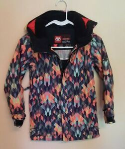 686 Snowboard Coat Youth Girls Muti-color Size Small
