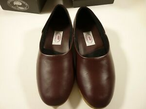 MENS BROWN LEATHER SLIPPERS SIZE 8 *DRAPER OF GLASTONBURY*