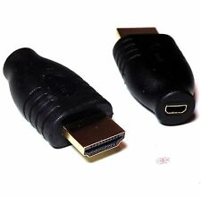 HDMI Male to Micro HDMI Female New Connector Coupler Adapter Converter Black UK