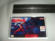 SUPER NINTENDO  GAME COVER FRIDGE MAGNET CASTLEVANIA IV