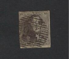 België Belgique n° 1 Epaulette oblitérée 10c brun  1849
