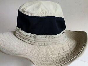 Vintage LL Bean Bucket Sun Boonie Hat Beige Size Large  Nylon Fishing 5L298
