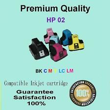 6x INK for HP02 HP 02 O2 HP3110 8230 C5180 C6180 C7200