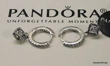 PANDORA Square Sparkle Hoop Earrings - 298503C01