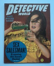 DETECTIVE WORLD 1947 Gangster Sex Salesman Absinthe Escort Racket RARE Excellent