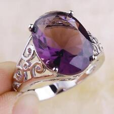Silver Plated Amethyst Lab-Created/Cultured Fine Jewellery