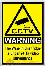 WINE CCTV WARNING SIGN NOVELTY FRIDGE MAGNET - BRAND-NEW GIFT IDEA