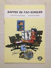 BD Gaffes en Fac-similé N° HC Signé JIDEHEM / DIONNET / 2006 / ZORGLANGUE 99ex
